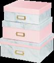 hama Designline - Aufbewahrungsboxen-Set - Marbling
