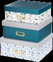 hama Designline - Aufbewahrungsboxen-Set - Feathers