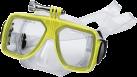 hama Taucherbrille für GoPro - Grössenverstellbar - Gelb/Transparent