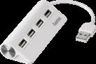 hama Hub 1:4 USB 2.0 - Alimenté par bus - Blanc