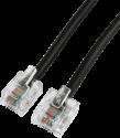 hama Câble de connexion DSL,  fiches modulaires 6p4c - 8p4c, 10m