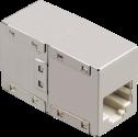 hama Adaptateur réseau CAT5,2x fiche modulaire 8p8c (RJ45) femelle