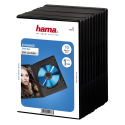 hama DVD Jewel Case with foil, nero (pacchetto di 10 )