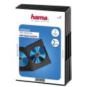 hama DVD-Doppel-Leerhülle Standard, 3er-Pack, schwarz