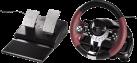 hama Racing Wheel Thunder V5 - Volant de course avec pédalier - pour Sony PS3 und PC - noir / rouge