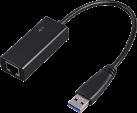 hama Adaptateur Ethernet Gigabit USB 3.0 - Adaptateur de câble - 10/100/1000 Mbps - Noir