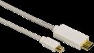 hama 53220 Mini-DisplayPort Adapterkabel - 1.5 m - Lichtgrau/Weiss