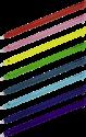 hama Eingabestifte - Für Nintendo New 3DS XL - 38 Stück - Regenbogen-Farben