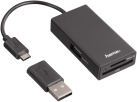 hama USB-2.0-OTG-Hub/Lettore schede per Smartphone/Tablet/Notebook/PC