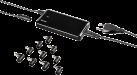 hama Alimentation secteur pour Ultrabooks - Chargeurs - 65 W - Noir
