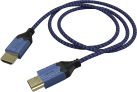 hama High Quality - HDMI™-Kabel - Für Sony PS4 - Schwarz/Blau