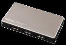 hama USB-3.0-Hub 1:4 für Ultrabooks, mit Netzteil