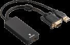 hama Convertitore VGA+USB per HDMI