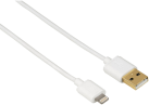 hama USB-2.0-Kabel mit Lightning Connector, 1.5 m, weiss