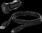 hama 00054683 - KFZ-Ladegerät mit USB-C-Kabel - Schwarz