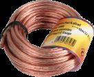 hama 62486 - Câble pour haut-parleur - 2,5 mm² - Transparent