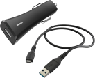 hama Kfz-Ladeset, USB-Type-C-Kabel, Kfz-Ladegerät