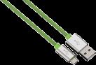 """hama Cavo di ricaricamento e Sync Color Line"""", 1 m, verde"""