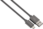 hama Lade-/Sync-Kabel Lightning Color Line, 1 m, anthrazit