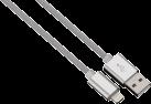 """hama Câble de charge/synchron. Lightning """"Color Line"""", 1 m, argenté"""