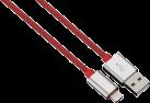 hama Cavo di ricaricamento e Sync Lightning Color Line, 1 m, rosso
