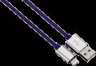 """hama Câble de charge/synchron. Lightning """"Color Line"""", 1 m, bleu"""