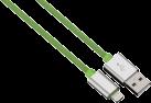 hama Cavo di ricaricamento e Sync Lightning Color Line, 1 m, verde