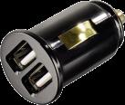 hama Dual Piccolino - Chargeur de voiture USB set - 5V - Noir