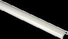 hama Conduite pour câbles en aluminium, mi-arrondie, blanc