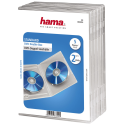 hama custodia doppia per DVD standard, set di 5, trasparente