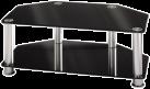 hama LCD-/Plasma-TV-Rack, aluminium / schwarz