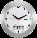 hama RCW500 - Horloge murale - Affichage du calendrier - Argent