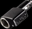 hama 00093794 Triple Power - USB-Kfz-Ladegerät - 2100 mAh - Schwarz