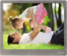 hama Cadre photo numérique Steel d´excellente qualité, 24,64 cm (9,7)