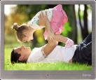 hama Digitaler Bilderrahmen Steel Premium,  24,64 cm (9,7)