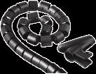 hama Kabelbündel-Schlauch, schwarz
