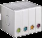 hama CD/DVD Album Box 96, bianco / trasparente