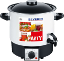 SEVERIN EA 3658 - Party Kochautomat - 9 L - Weiss/Schwarz