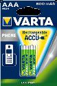 VARTA - Aufladbare Batterie - AAA Micro - 800 mAh - 2 Stück - Grün/Silber
