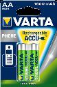 VARTA - Batterie rechargeable -  AA Mignon - 1600 mAh - 2 pièce - Vert/Argent