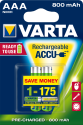 VARTA Ready To Use - Pile rechargeable - AAA / 800 mAh - 2 pièces