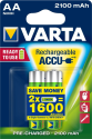 VARTA Ready To Use - Pile rechargeable - AA / 2100 mAh - 2 pièces