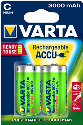 VARTA - Batteria ricaricabile - R2U C - 3000 mAh- 2 pezzo - Verde/Argento