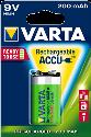 VARTA - Aufladbare Batterie - R2U 9V - 200 mAh - 1 Stück - Grün/Silber