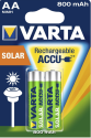 VARTA SOLAR ACCU AA - Wiederaufladbar Akku - 2 Stück - Grün/Silber