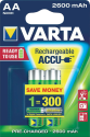 VARTA Ready To Use - Pile rechargeable - AA / 2600 mAh - 2 pièces
