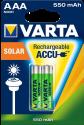 VARTA SOLAR ACCU AAA - Wiederaufladbar Akku - 2 Stück - Grün/Silber