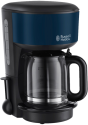 Russell Hobbs Colours Royal Blue Glas-Kaffeemaschine