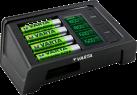 VARTA LCD Ultra Fast Charger - Ladegerät - Für bis zu 4 AA/AAA - Schwarz