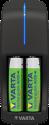 VARTA Mini Charger - Caricatore + 2x AAA 800 mAh - Nero